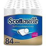 Scottex Scottonelle Carta Igienica Soffice e Trapuntata, Confezione da 84 Rotoli