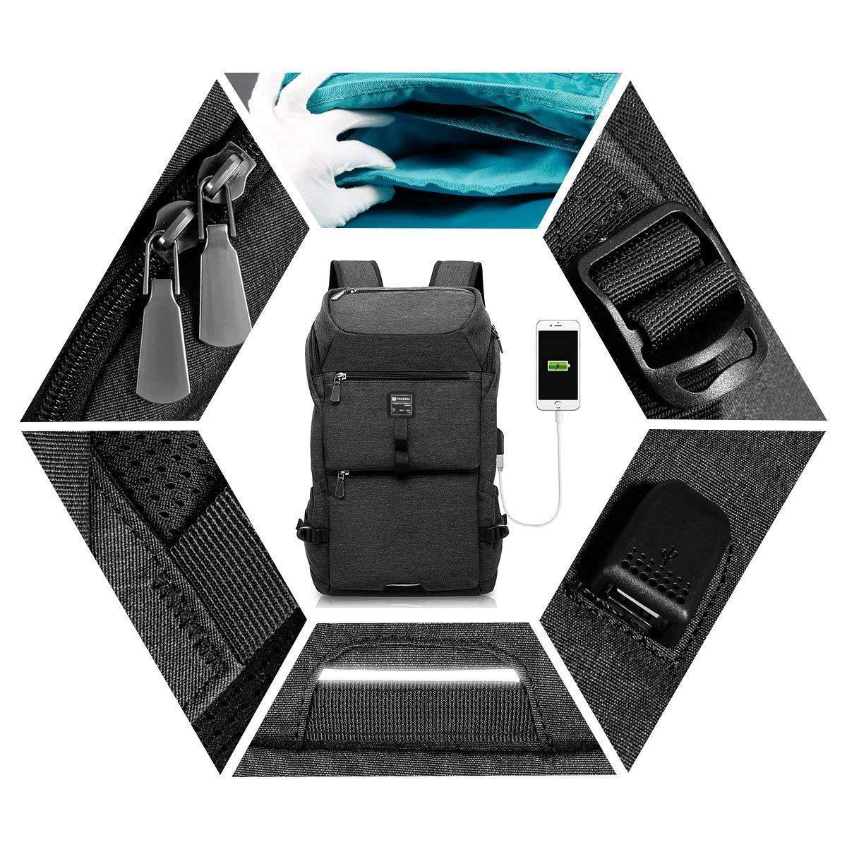 71ekoT  6IL - TOUBKAL - Mochila de alta calidad EXTRA FUERTE - Para PORTATIL hasta 15'' - Buena capacidad (26L) - mochila USB…
