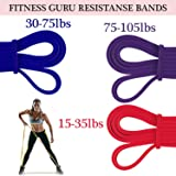 Fitness Guru   Pull up Assist Band Exercise Resistance Bands for Workout Body Stretch Powerlifting Band