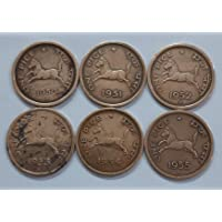 AL. EN. SONS, Coins and Stamps, 100% Genuine, UNCIRCULATED, SIX Coins Set, ONE Pice Horse Complete Set 1950- 1955.