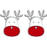 Weihnachten Ohrring Ohrstecker, 925 Sterling Silber Rentier Weihnachtsbaum hängenden Ohrring für Damen Mädchen, Nettes…