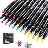 Gifort Pennarelli per Tessuti Permanente, 24 Colori pennarelli per Stoffa, Penne per Tessuti Non Tossico Lavabili e…