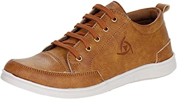 Kraasa Men's Faux Leather Sneaker