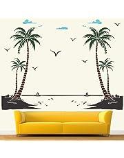 StickMe Morning Breeze Sea View Wall Sticker (PVC Vinyl, 150 X 120 cm, Multicolour)
