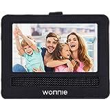 WONNIE Auto Kopfstützenhalterung für Drehgelenk & Flip Tragbarer DVD Player KFZ Kopfstütze Halterung Gehäuse (Black) (9.5 inch)