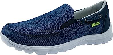ChayChax Scarpe da Barca Uomo Comode Scarpe da Ginnastica Basse Slip On Loafer Mocassini Leggera Canvas Sneaker