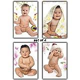 Paper Cute Babies Wall Poster, Multicolour, Medium