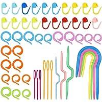 NATUCE Kit Crochet Tricot pour Debutant, 53PCS Accessoire Tricot et Crochet avec Aiguille de Câble à Tricoter Crochet…