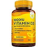 Vitamin D 1 000 IU (25 μg) – 365 VIT D Softgel kapslar helårs leverans – för underhåll av hälsosamt immunförsvar, muskler, be