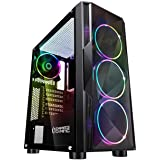 EMPIRE GAMING – Caja PC Gamer Diamond ARGB Torre Mediana ATX – Frontal Diamante Plexiglás y Pared Lateral de Vidrio Templado