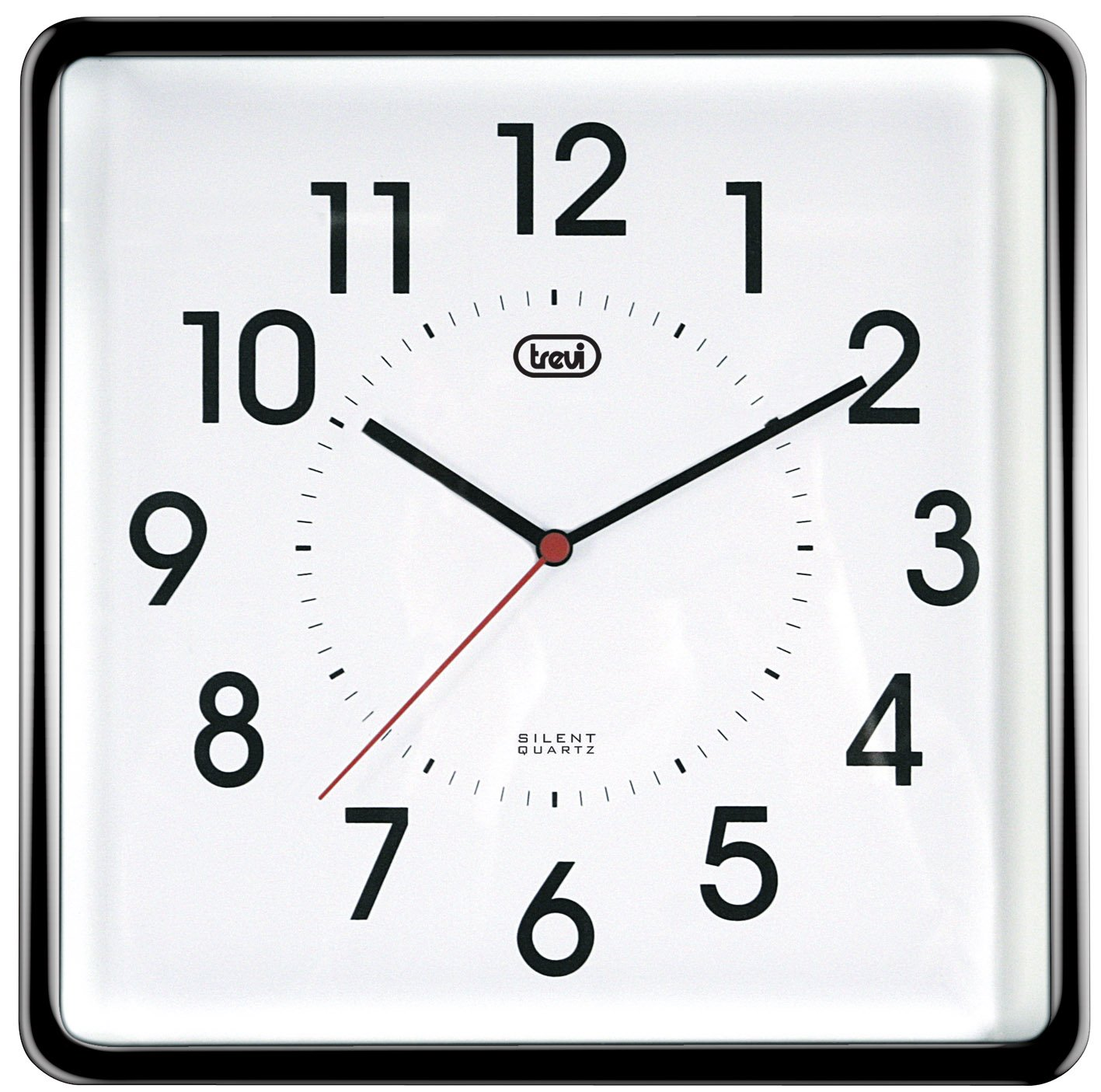 trevi  cm silent quartz square wall clock (silver) amazon  - trevi  cm silent quartz square wall clock (silver) amazoncoukkitchen  home
