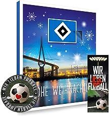Hamburger SV Premium Adventskalender gefüllt inkl. Poster + gratis Lesezeichen & Aufkleber Wir lieben Fussball