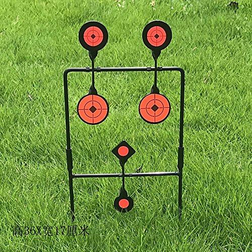 Will Outdoor Automatic Reset Shooting Target 6 Board Shooting Target Außenübungen Paintball Bogenschießen Slingshot, etc. -