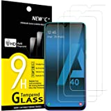 NEW'C 3 Unidades, Protector de Pantalla para Samsung Galaxy A40, Antiarañazos, Antihuellas, Sin Burbujas, Dureza 9H, 0.33 mm