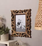 yatha Wood Photo Frame (5 x 7 inch, Gold)