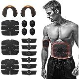 Festnight Elettrostimolatore per Addominali/Glutei, Stimolatore Muscolare 15PCS EMS per Addominale/Gamba/Braccio, Cintura Ele