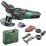 Bosch Outil Multifonction PMF 350 CES (3 Lames, Plateau de Ponçage, 6 Feuilles Abrasives, Coffret, 350 W, Pour Accessoires Starlock Et Starlockplus)