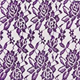 Fabulous Fabrics Spitzen Stoff lila — Meterware ab 0,5m