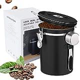 Boîte à café hermétique en acier inoxydable - Pour grains de café, poudre, thé, noix de cacao - Avec suivi de la date - Valve