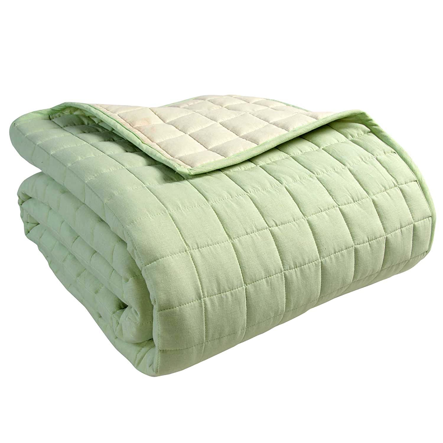 Homescapes - 15% Cotton Reversible Twin Colour Quilted Bedspread ...