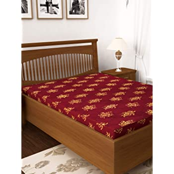 """Story@Home King Bed Size 4 inches Foam Mattresses 75"""" X 72"""" X 4"""", Maroon"""