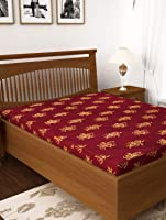 Story@Home 4-inch Double Size Foam Mattress (Maroon, 72x60x4)