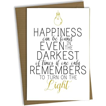 Harry Potter Birthday Card Greetings Christmas Hogwarts Dumbledore Quote