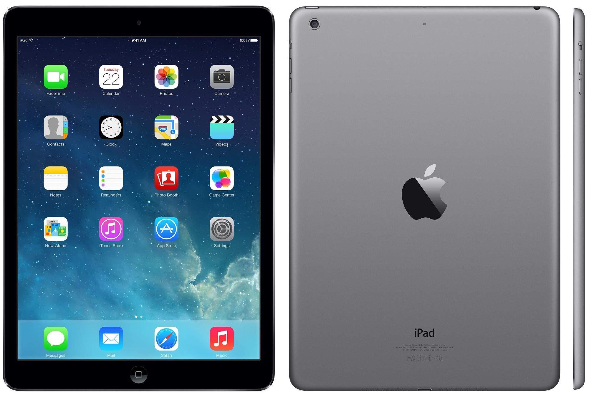 Apple-iPad-Air-16GB-Wi-Fi-Space-Grey-with-Black-Flip-Case-Renewed