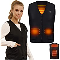 Ronghome Electric Heated Vest, USB Heated Jacket Warmer Gilet for Men/Women, Lightweight Body Warmers Outdoor Gilets for…