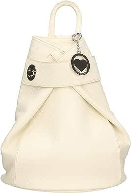 Chicca Borse - Borsa Zaino da Donna in Vera Pelle Made in Italy - 28x35x12 Cm