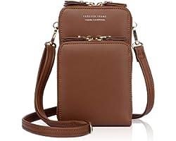 APHISON Damen Handy Umhängetasche Kleine Handtasche Cartoon Frauen Brieftasche Cross-Body Tasche PU-Leder Geldbörse Handy Min