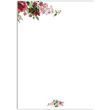 Writing paper romantic rose dv017 a4 size 50 sheets colour red writing paper romantic rose dv017 a4nbspsize 50nbspsheets colour red pink mightylinksfo