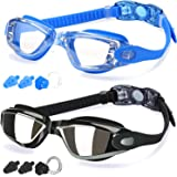 COOLOO Swimming Goggles, Pack of 2, Swim Goggles for Adult Men Women Youth Kids Children, with Anti-Fog, Waterproof, Protecti