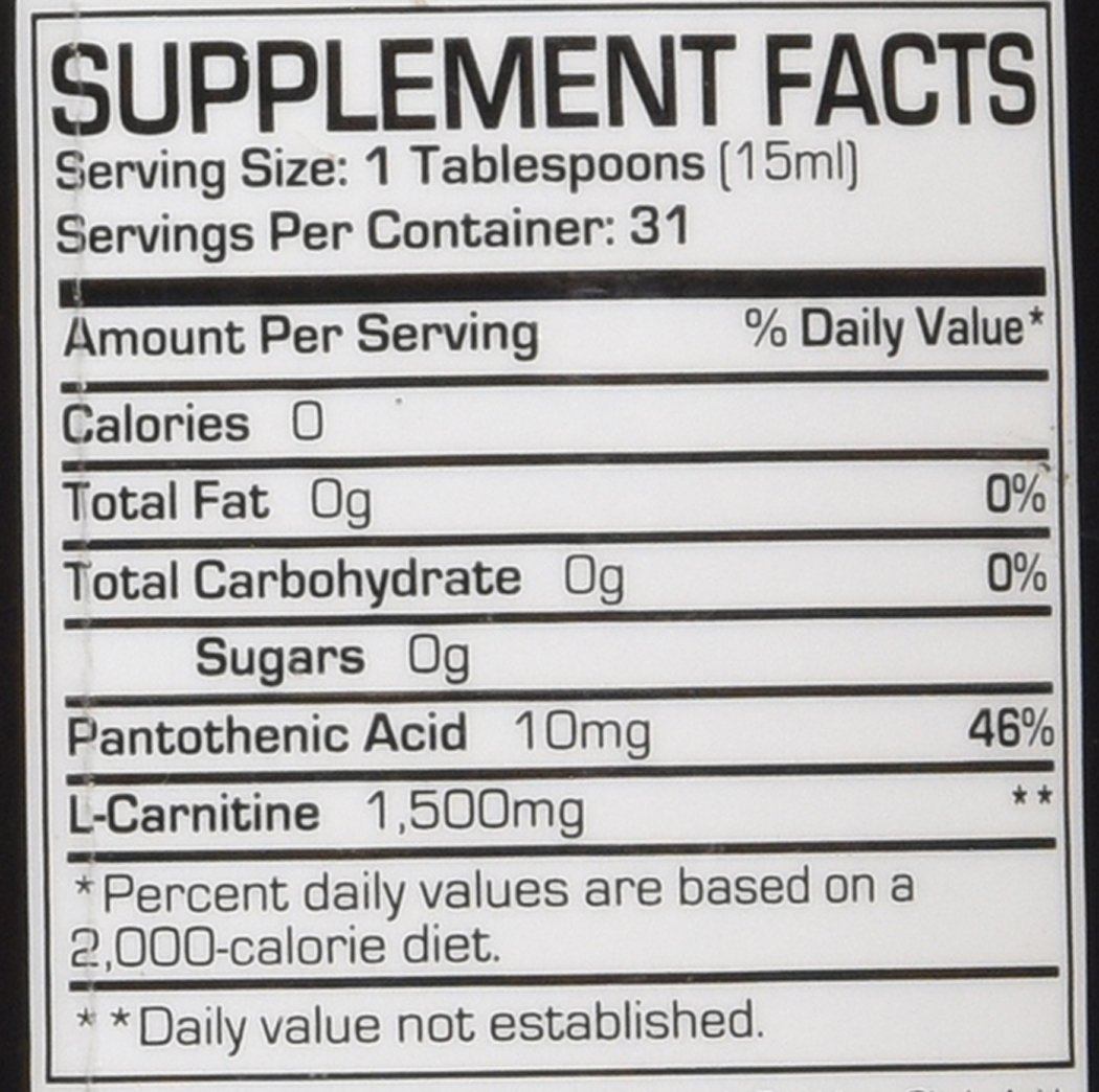 71erl8xGDfL - Pro Supps L-Carnitine 1500 Diet Supplement, Berry, 16 Fluid Ounce