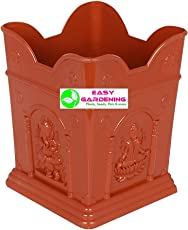 Easy Gardening Tulasi / Tulsi Pot (Small) Terracotta Color Planter