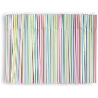 Lot de 400 pailles pliables réutilisables en colorées Pailles- Multicolores - Pour les fêtes, les boissons gazeuses, les…