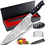 """MOSFiATA Couteau de chef , couteau de cuisine 8 """", couteau en acier inoxydable allemand EN1.4116 à haute teneur en carbone, c"""