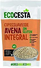 Ecocesta Copos Suaves de Avena Integral Ecológica sin Gluten, Aptos para Veganos (500g)
