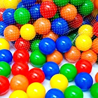 EEVOVEE 50 pcs Medium Size Premium Balls Color Balls for Kids Pool Balls Set of 50 Balls for Baby Kids 6 cm Diameter…
