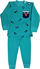 Miss U Baby Girl Baby Boys Kids High Quality Winter Wear Regular Comfort Fit Full Sleeves Cotton Polyester Blend Night Suit with Inner Fur