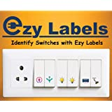 Ezy Labels Switch Stickers and Labels for Home appliances (Clear)
