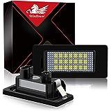 WinPower LED Luci targa per auto Lampada targa 3582 SMD con CanBus nessun errore 6000K Xeno Bianco freddo per E39/E60/E90/E91