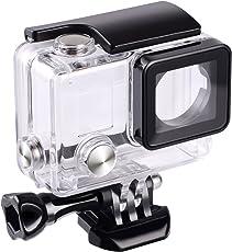 SupTig Wasserdichte Schutzhülle für GoPro Hero 4, 3+, 3, für Verwendung der Sport-Kamera bis 45m unter Wasser