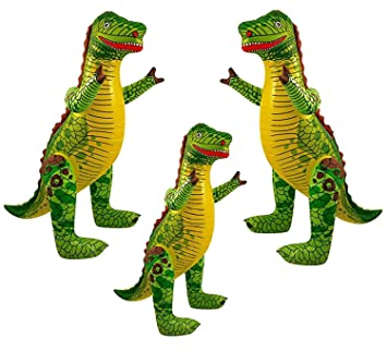 family pack of inflatable dinosaurs kids children party decoration kids children fancy dress prop for dinosaur themed party birthdays 3 inflatable