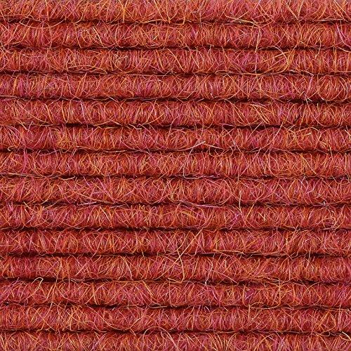 Teppichboden Teppich-Fliese | Tretford Interland ECO | 50x50 cm | rot 582