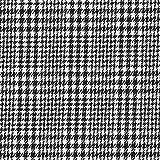Fabulous Fabrics Anzugstoff Stretch Pepita - schwarz/Weiss