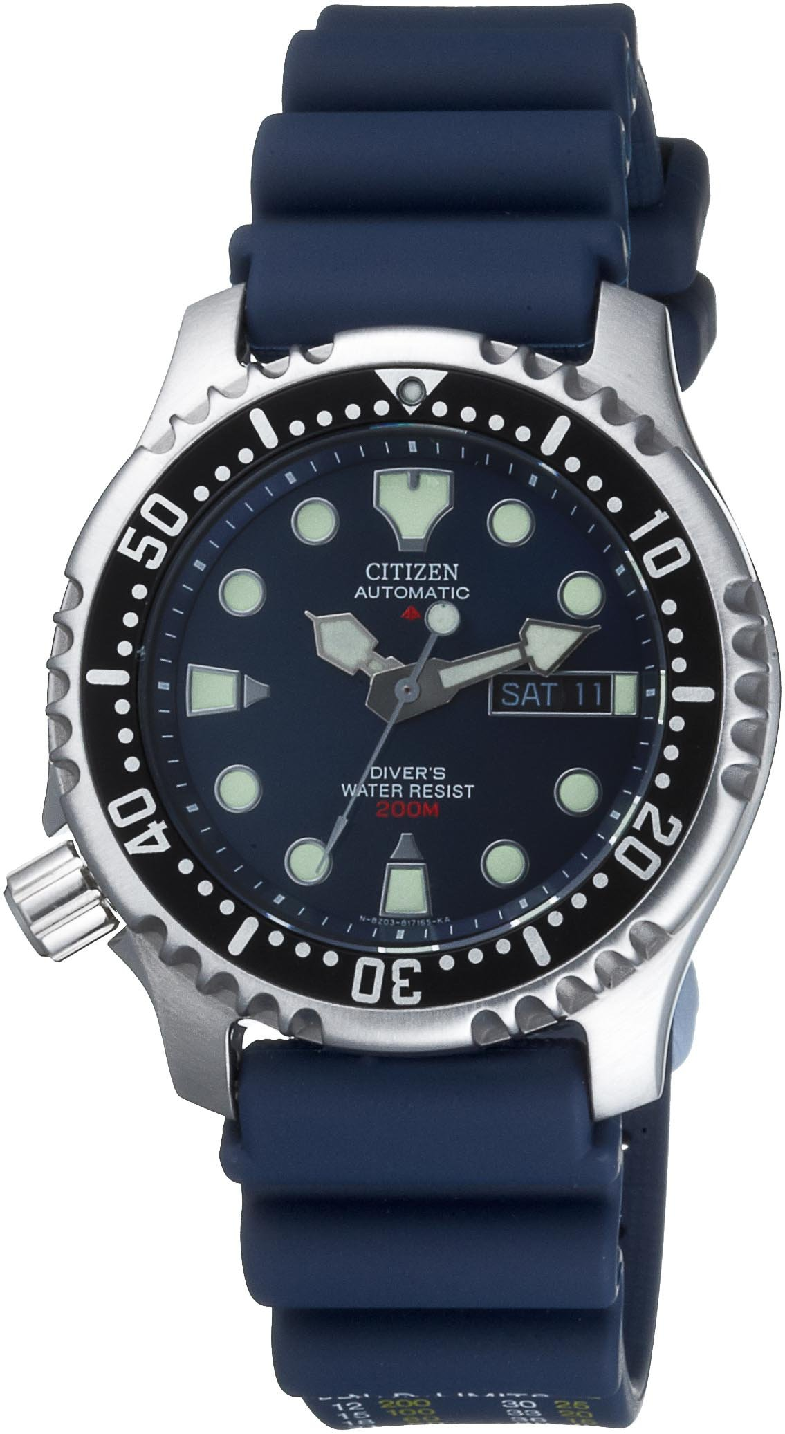 Citizen Reloj Analógico para Hombre de Automático con Correa en Plástico NY0040-17LE 2