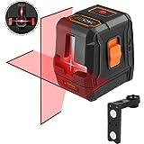 Niveau Laser Avancé Tacklife SC-L07 Laser Croix Rouge 15m/3 Modes en 2 Sources/Ligne Horizontale et Verticale à 110▫/Verrouillable/35m avec Récepteur de Laser/Support Magnétique Rectangulaire