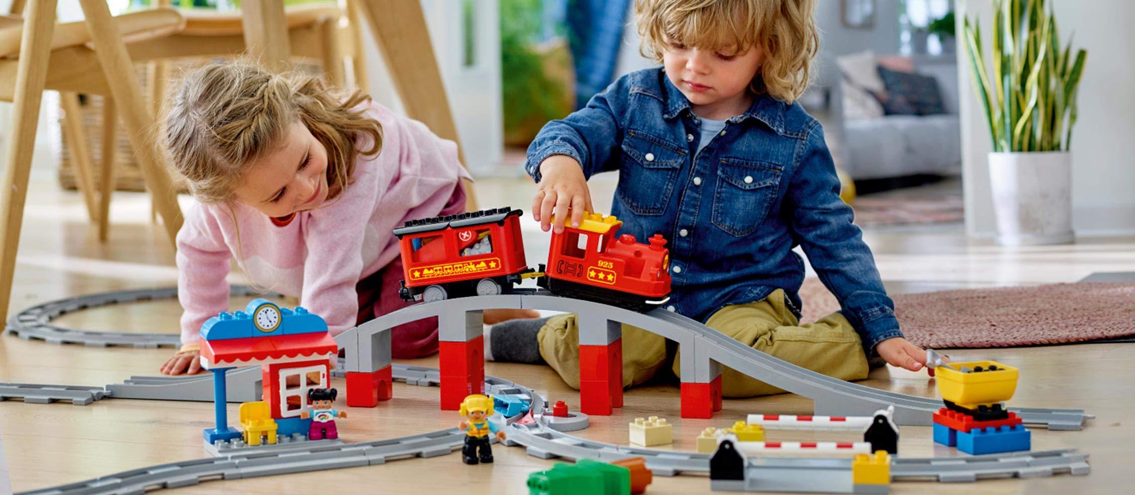 LEGO - DUPLO Treno a Vapore con Locomotiva Push And Go e 5 Mattoncini Multifunzione, Set di Costruzioni per Bambini dai… 4 spesavip