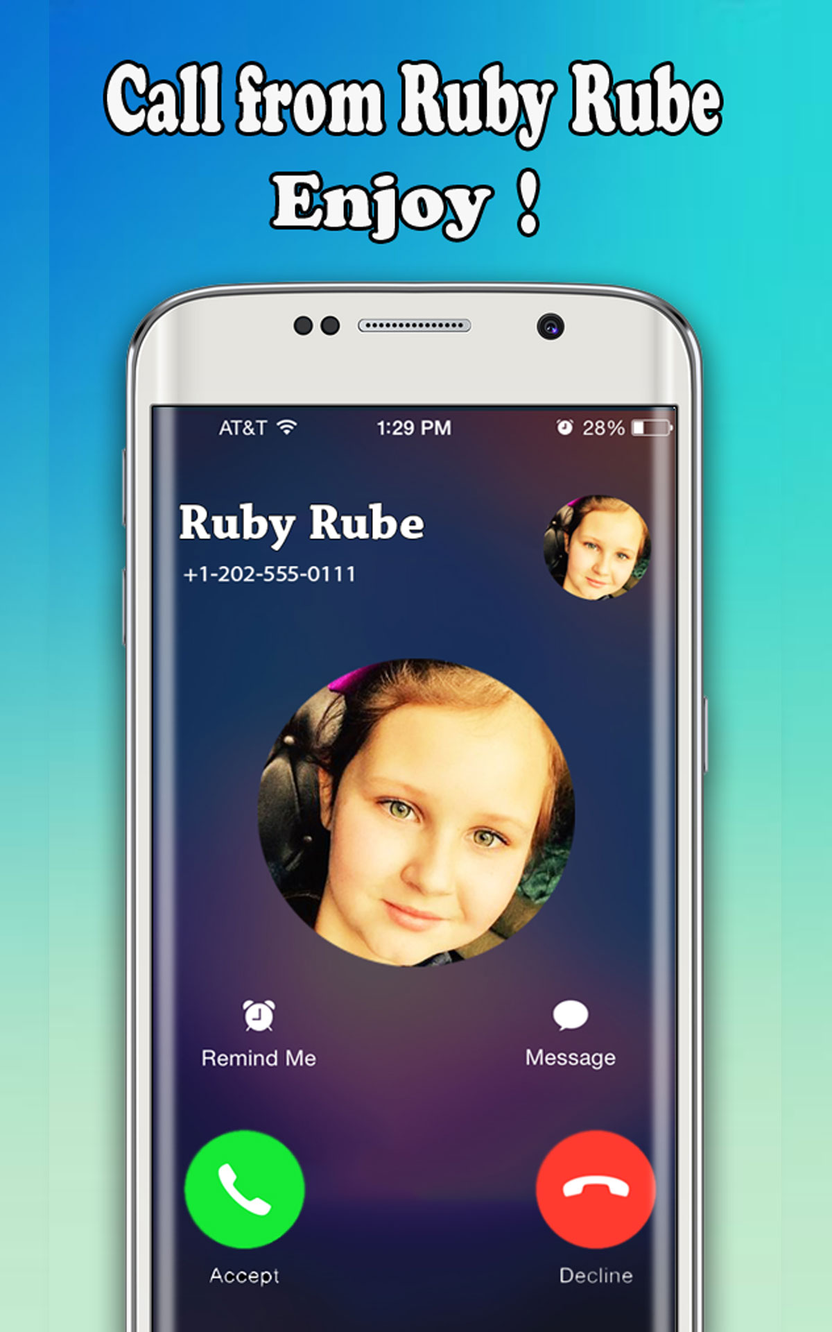 Instant Fake Live Video Calls From Ruby Rube - Free Fake Phone Calls